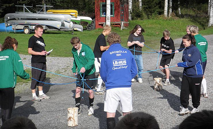 Nordenbergsskolans Innebandygymnasium - träningsläger på Valfjället